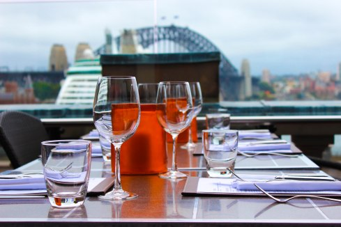 Cafe Sydney with beautiful view